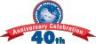 オーケーギフトショップ40周年のロゴ